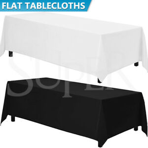 Rectangle Tablecloth Polyester Table Cloth Cover Decorative Dining Parties Event
