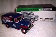 LIBERTY CLASSICS 1953 JEEP WILLYS MOTORS PARTS DELIVERY VAN WITH BANK & KEY