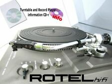 Rotel turntable record player instruction owner manuals cd-r