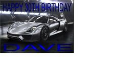 Porsche 918 Spyder ANY AGE ANY NAME A5 PERSONALISED BIRTHDAY CARD