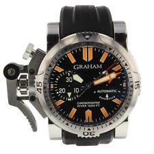 Graham Chronofighter Oversize Diver Steel 46 mm Mens Watch 2OVDIVAS.B02A.K10B