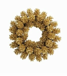 Mud Pie H9 Christmas Wall Decor 6'' Artificial Pine Cone Wreath - Choose Design