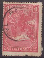 Tasmania Barrington postmark (type 1a) on 1d pictorial rated U/C (3) by Hardinge
