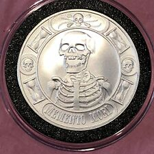 Skeleton Skull Anonymous Mint Collectible Coin 1 Troy Oz .999 Fine Silver Round