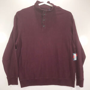 Roundtree & Yorke Mens Size 2XLT Long Sleeve Quarter Button Sweater Big Tall