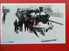 PHOTO  LMS TRAIN WITH SNOW PLOUGH AT RIBBLEHEAD