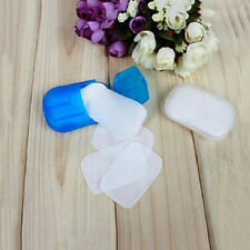 NEW Creative Portable Paper Soap Washing Hand Bath Slice Sheets Scented Foaming