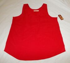 New Faded Glory Women's Plus Woven Tank With Chest Pocket Size XXL (20) Red