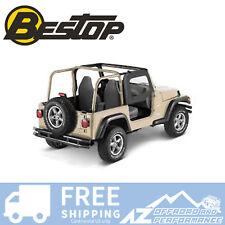 Bestop Soft Fabric Upper Doors 97-06 Jeep Wrangler TJ & Unlimited LJ Black Denim