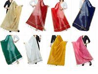 Women's  Art Silk Dupatta Plain Scarf Fancy Wrap Party Wear - Free Shipping