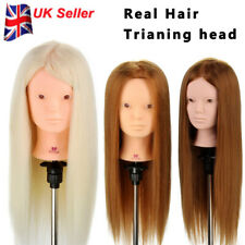 "22-24"" Practice Make-up Training Head Hair Hairdressing Mannequin + Clamp UK"