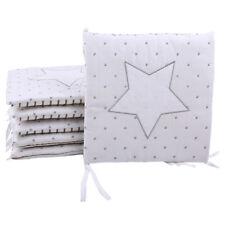 New Baby Bumpers Stars Crib Pads Toddler Bed Kindergarten Nursery Bedding 6PCS