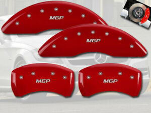 "2015-2020 Mercedes Benz C300 Front + Rear Red ""MGP"" Brake Disc Caliper Covers 4p"