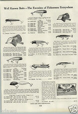 1933 PAPER AD Fishing Lure Paw Paw Gep Bait Best O Luck Reel Blue Grass #10 10 +
