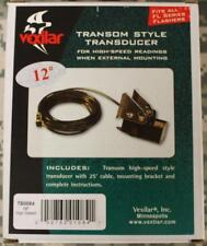 Vexilar Transom Mount High Speed Transducer 25' Cable & Bracket 12 Degree NEW!!
