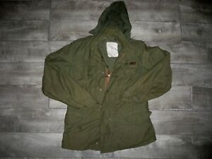Vtg Alpha Industries US Army M-65 Field Cold Weather OG-107 Jacket Small Short