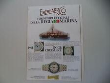 advertising Pubblicità 1982 OROLOGIO EBERHARD CROISIERE
