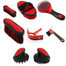 Horse Grooming Brushes Set - 8 Piece Equestrian Cleaning Tools Set  For Horses
