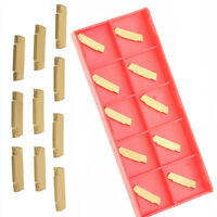 10pcs MGMN200-G 2mm Carbide Inserts For MGEHR/MGIVR Grooving Cut-Off Tool UF
