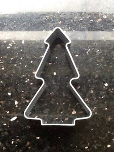 Metal Tree Or Christmas Tree Cookie Cutter REDUCED TO Clear for Cake Decorating