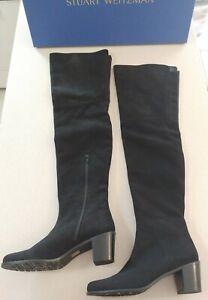 Stuart Weitzman Hitest Black Suede Over The Knee Boots NIB $875 Size 9.5