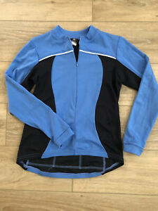 Women's Canari Blue/Black Cycling Jacket M Made In USA