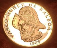 1 - 1975 PANAMA $1.00 SILVER PROOF DEEP CAMEO BALBOA BULLION COIN