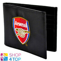 ARSENAL FC WALLET MENS BLACK EMBROIDERED OFFICIAL FOOTBALL SOCCER NEW