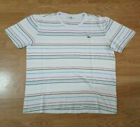 Lacoste Sport T Shirt Tee Top Short Sleeves Crew Neck Striped Size 5