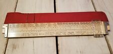 Vintage Slide Rule Weber No. 4280-M with Case Made in USA
