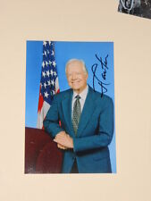 US President JIMMY CARTER Signed 4x6 Photo AUTOGRAPH 1F