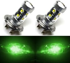 LED 50W H7 Green Two Bulbs Head Light Low Beam Replacement Show Use Lamp