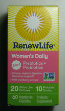 ReNew Life WOMEN's DAILY 2in1 Probiotic 60 Urinary Vaginal Digestive Immune 6/21