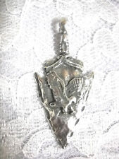NEW AMERICAN BIRDS DESIGN FLYING EAGLE ARROWHEAD PEWTER PENDANT ADJ NECKLACE