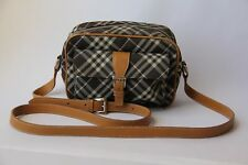Authentic BURBERRY LONDON BLUE LABEL Nylon Canvas Black Cross-Body Shoulder Bag