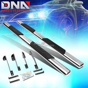 "5"" STAINLESS BOLT-ON CHROME OVAL STEP NERF BAR FOR 98-02 DODGE RAM 4DR QUAD CAB"