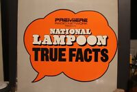 NATIONAL LAMPOON TRUE FACTS RADIO SHOW *Mint Condition* LP LOT 1980'S Comedy