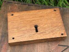Antique Large Victorian Rim Lock Working Salvage 19th Century Encased in Oak