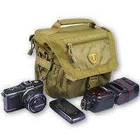 Green Tenba Vector Shoulder Bag Case+Rain Cover for Nikon Camera+Lens+Speedlight