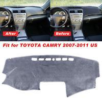For Toyota Camry 2007-2011 Dashmat Dash Mat Anti-Slip Dashboard Gray Pad Cover