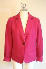 J Crew Schoolboy Wool Blazer Bright Pink Size 6 EUC