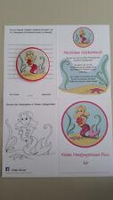 Meerjungfrau Schwimmabzeichen und Pass, (ähnlich wie Seepferdchen, Frosch)