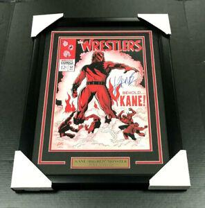 JSA Certified WWE WWF KANE VS UNDERTAKER Autographed 8x10 Photo Certified BIG RED MACHINE Autographed Wrestling Photos