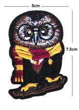 Owl Iron/Sew On Embroidered Patch Badge hogwarts Embroidery harry potter wizadry