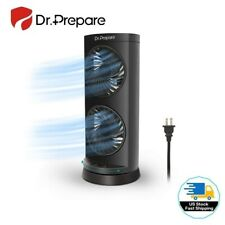 Dr. Prepare Tower Fan 110° Oscillating Fan, Portable Desk Fan, 3-Speed Options