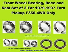 1979 1980 1981-1997 Ford F350 4WD Front Wheel Bearing, Race, and Seal Set of Two