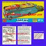 Corgi Toys 1126 & GS 16 Ecurie Ecosse Operating Instruction Leaflet & Poster