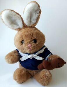 "Vintage 1984 Dakin Plush 12"" Sailor Top Holding Toy Bear"