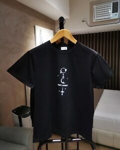 NWT YSL Saint Laurent 'Mystique' Print Cotton Jersey T-Shirt in Black Size XS