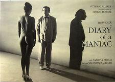 DIARY OF A MANIAC brochure film 1993 Marco Ferreri Jerry Calà Sabrina Ferilli